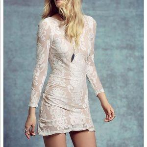 For love & lemons white lace mini dress